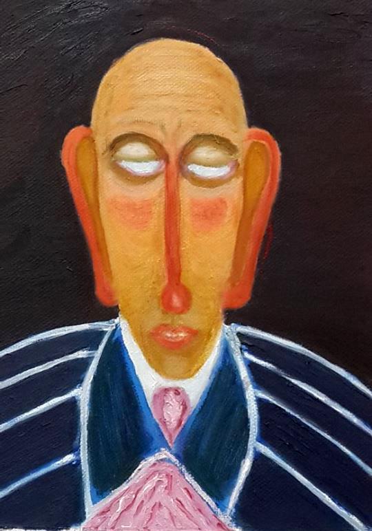Sergey Yampolskiy. Bald, without pupils