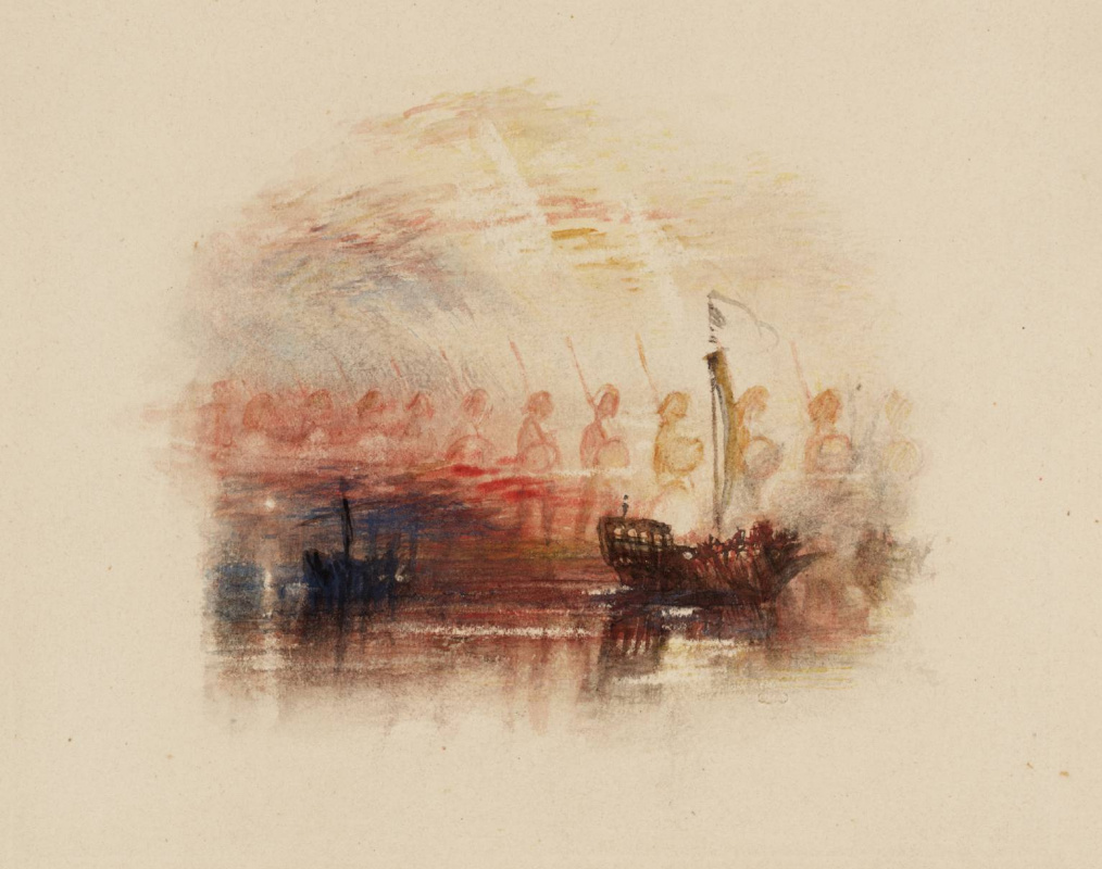 "Joseph Mallord William Turner. The vision of Columbus for ""Poems"" Rogers"