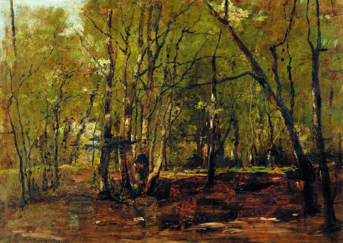 Михай Либ Мункачи. Лесной пейзаж