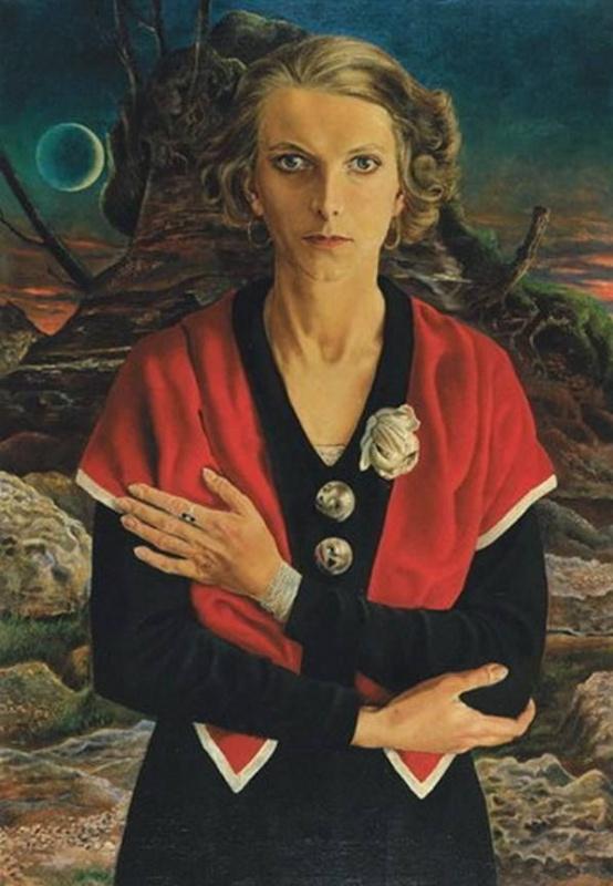 Rudolf Schlichter. Lady with Red Scarf (Speedy with the Moon)