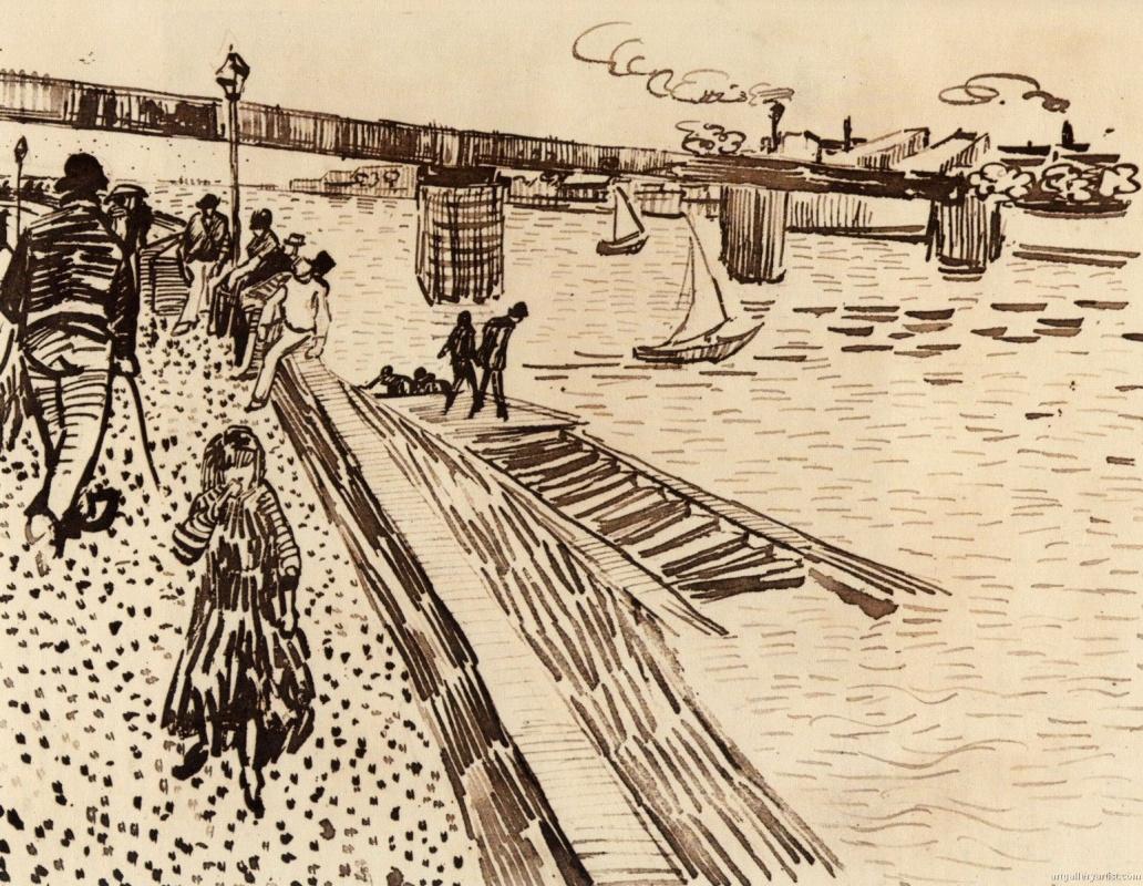 Vincent van Gogh. Railway bridge in Trinquetaille on Ron