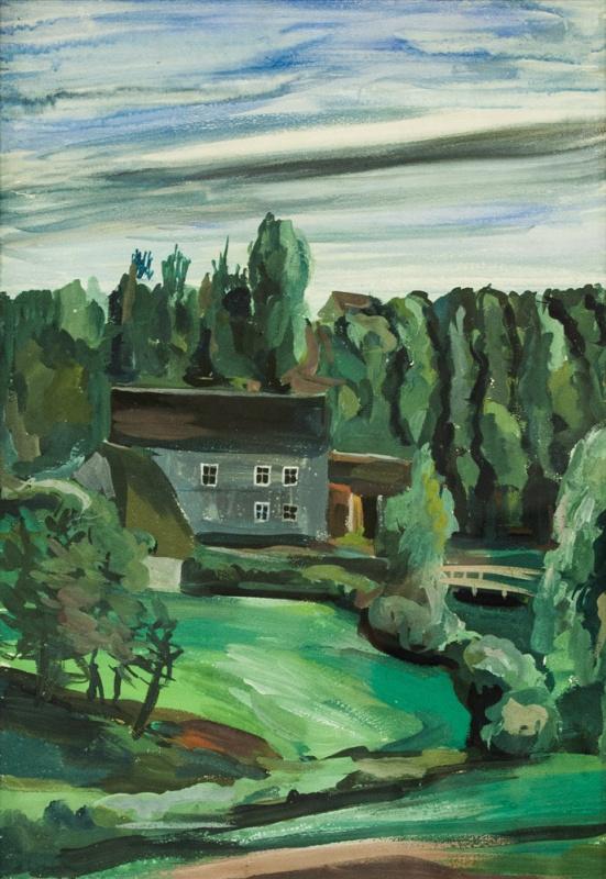 Anna Aleksandrovna Leporskaya. House in the woods