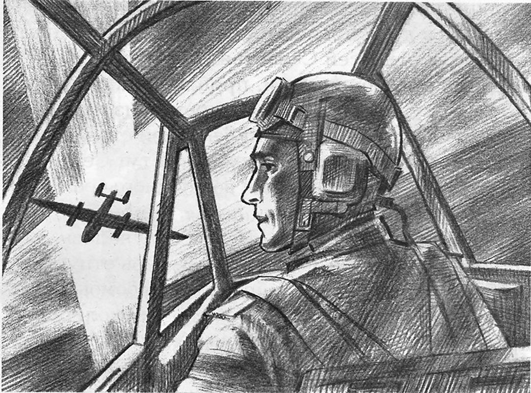 Alexander Vasilievich Kuzmin. Pilot Sevastyanov. V. Voskoboinikov.
