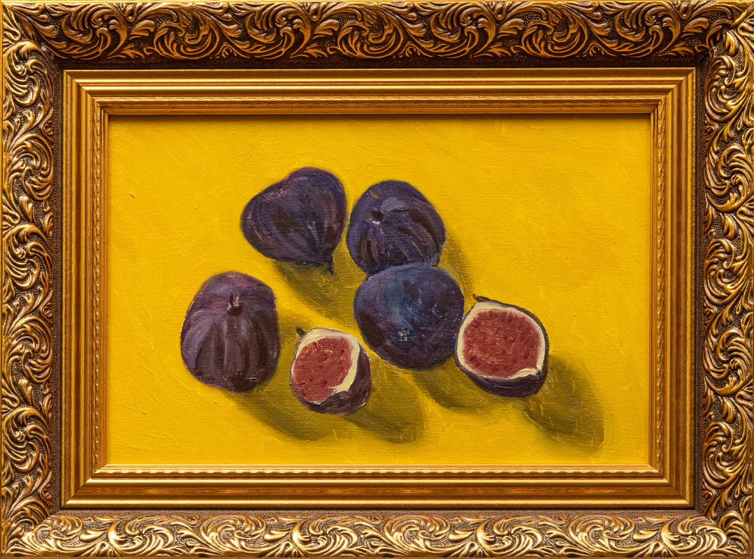 Karina Zadumova. Still life with figs