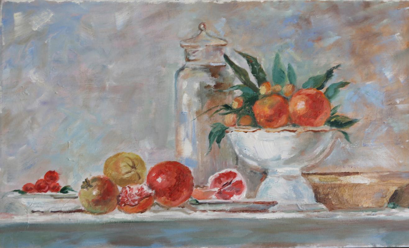 Tatyana Nikolaevna Antonova. Still life with tangerines