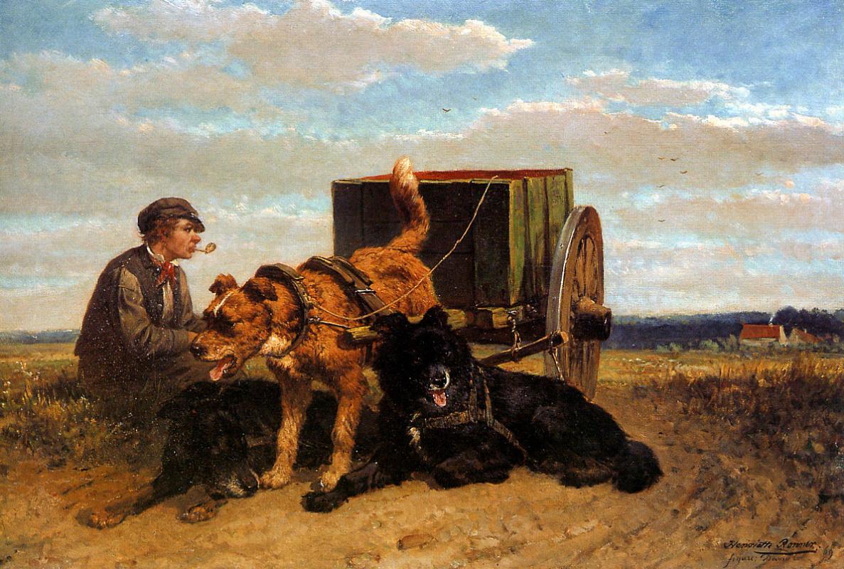Генриетта Роннер-Книп. Человек с собачьей упряжкой