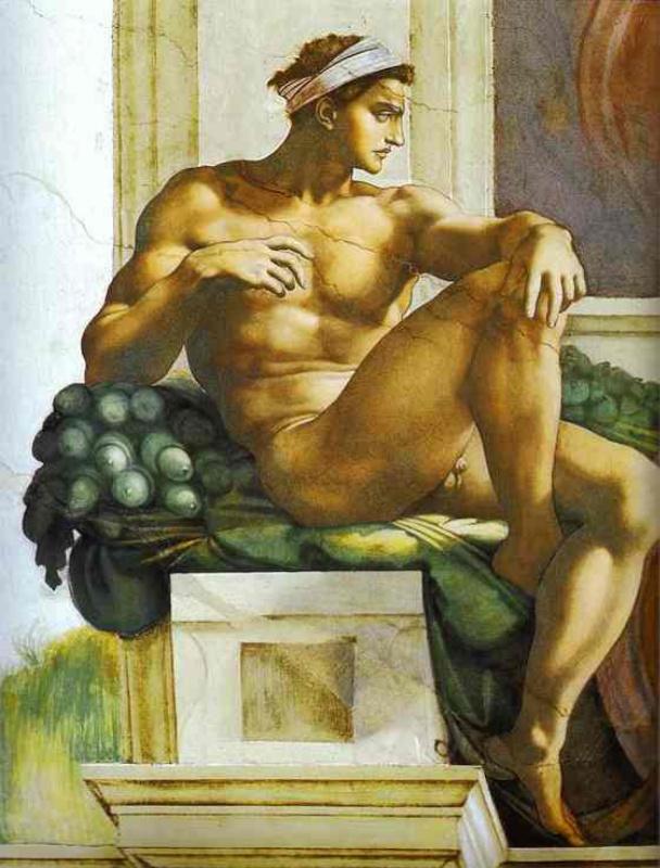 Michelangelo Buonarroti. Nude