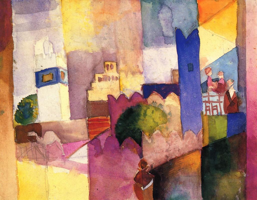 August Macke. Kairouan