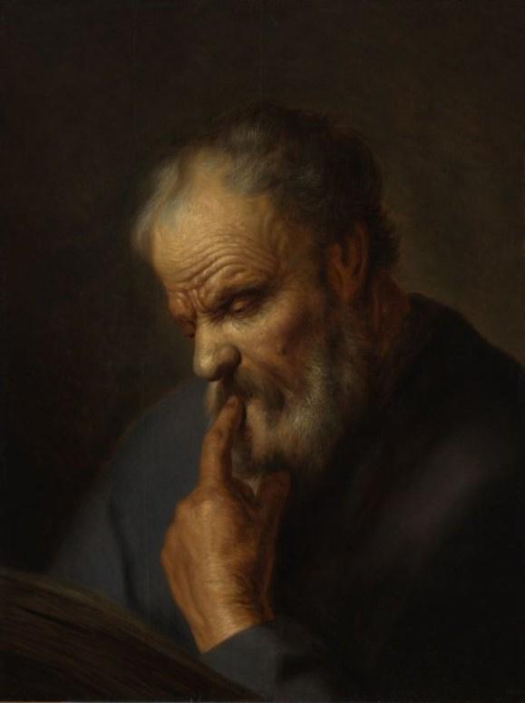 Ян Ливенс. Портрет читающего мужчины