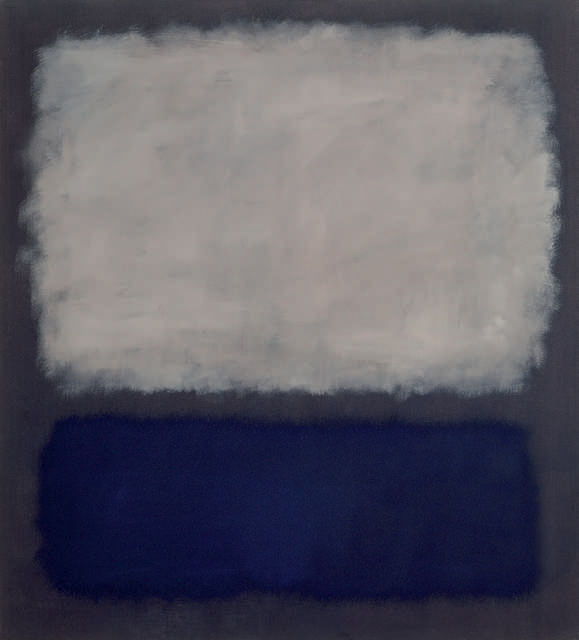 Untitled (White, blue, gray)