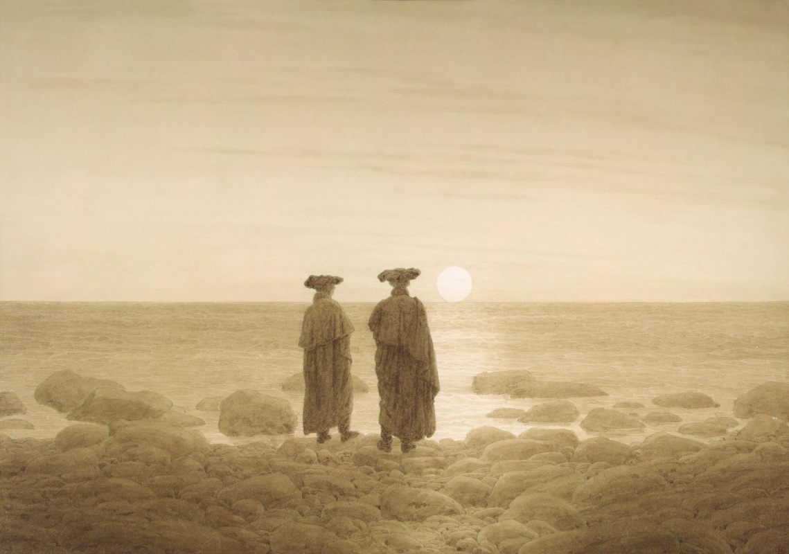 Caspar David Friedrich. Moonrise (Two men on the shore)