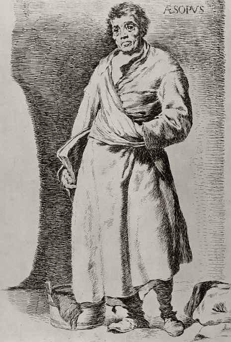 Франсиско Гойя. Эзоп, с картины Веласкеса