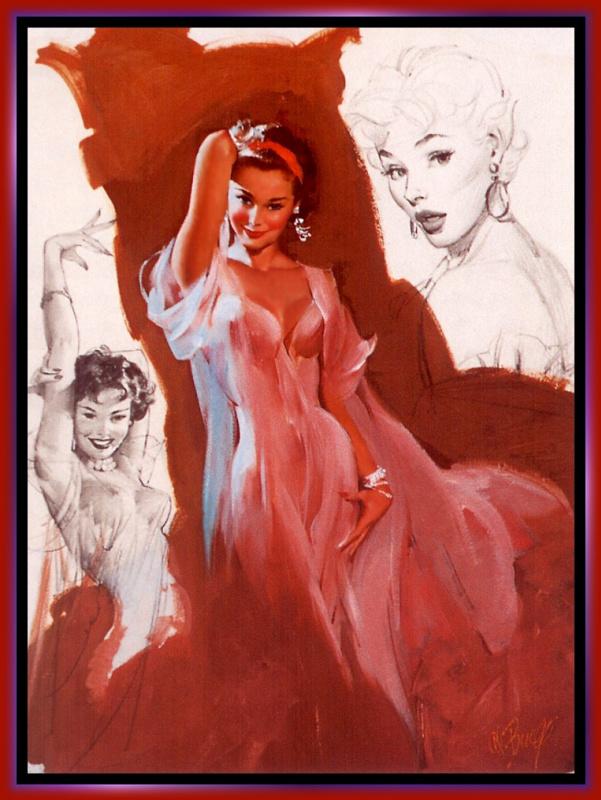 Эл Буэлл. Девушка в розовом