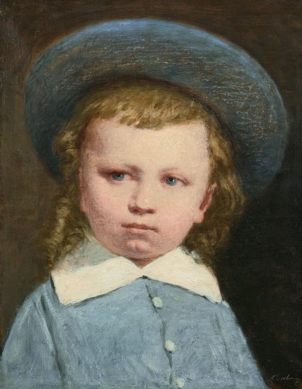 Луи-Александр Дюбург. Мальчик в синей шляпе