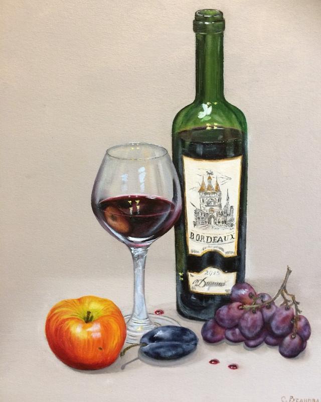 Светлана Русанова. Натюрморт с яблоком.