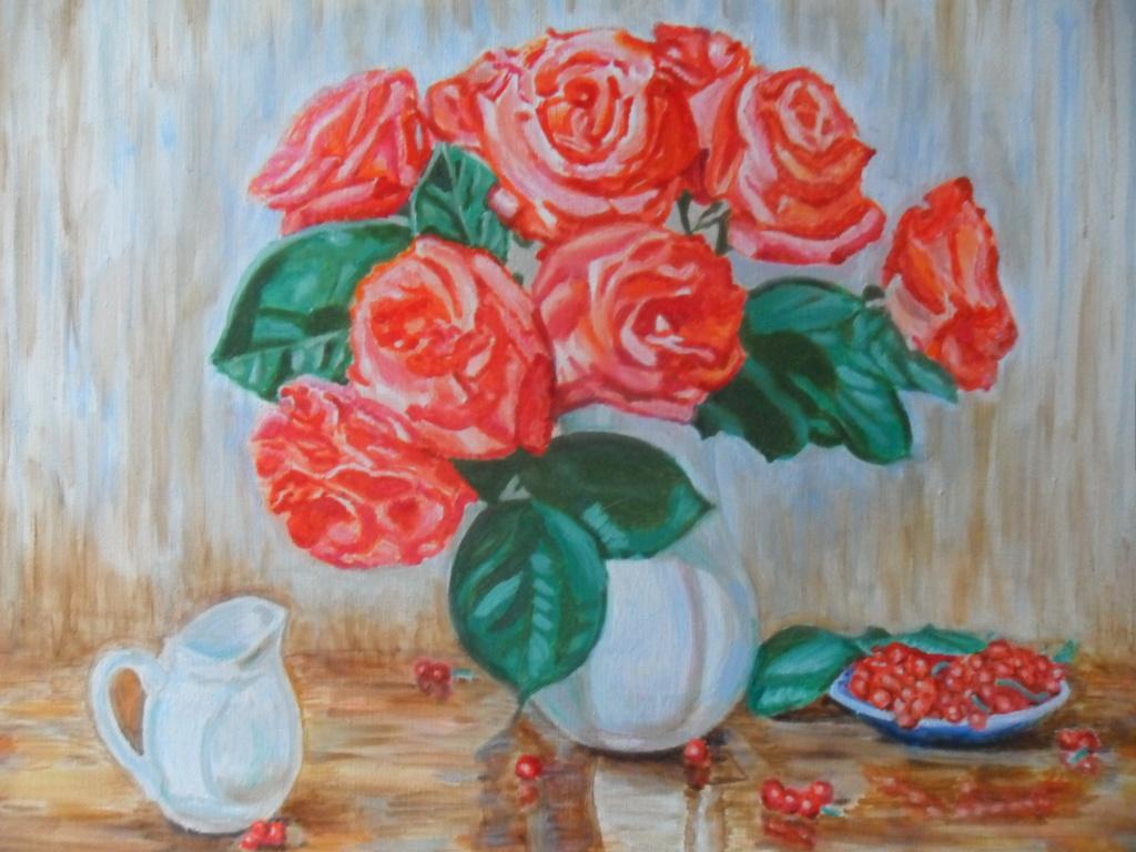Gulnara Gafarova. Roses and berries