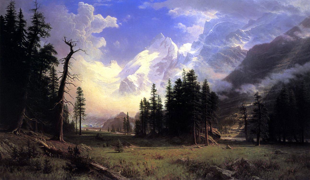 Альберт Бирштадт. Ледник в долине Понтрезина