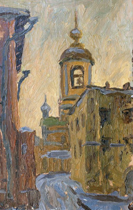 Aleksander Kovalchuk. Courtyard in zamoskvorechye