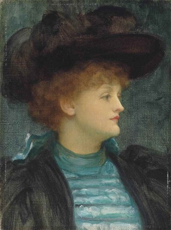 Frederic Leighton. Portrait of a lady