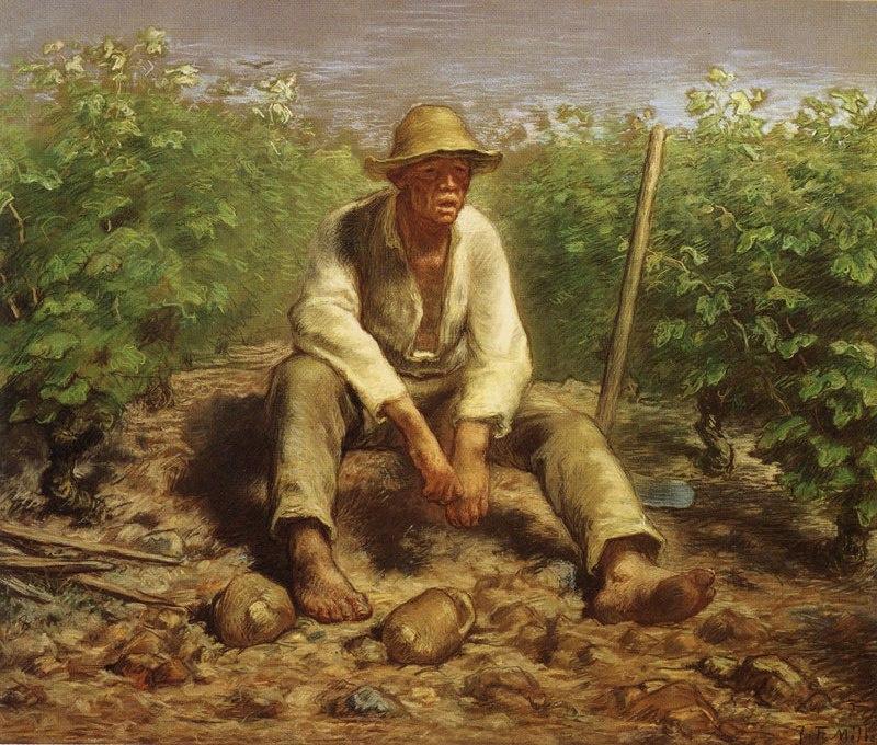 Jean-François Millet. Resting grower