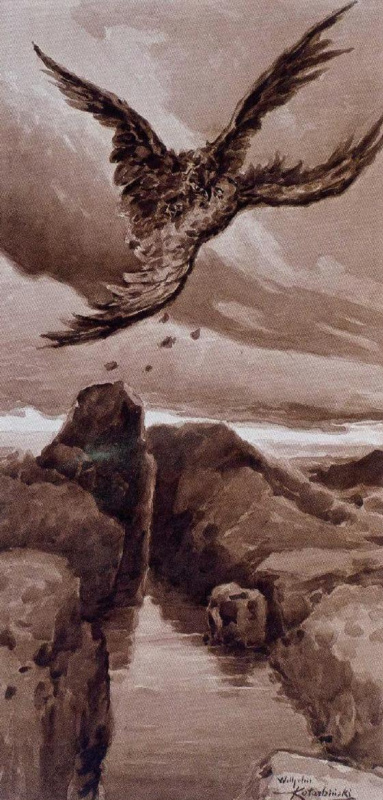 Wilhelm Alexandrovich Kotarbinsky. Battle in the air. Eagle