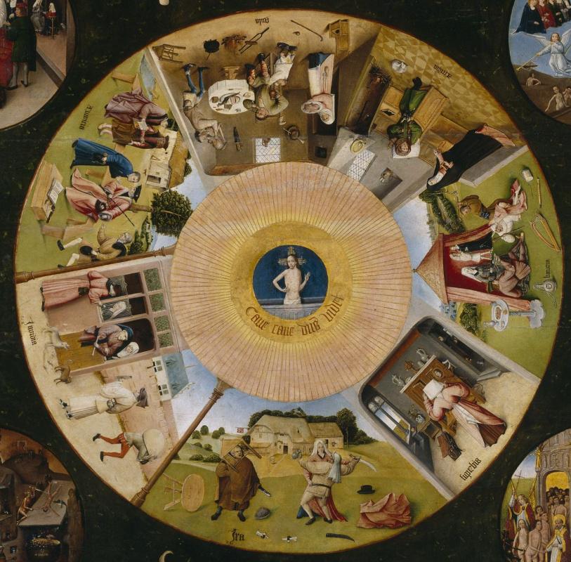 Иероним Босх. Семь смертных грехов и Четыре последние вещи. Центральная часть