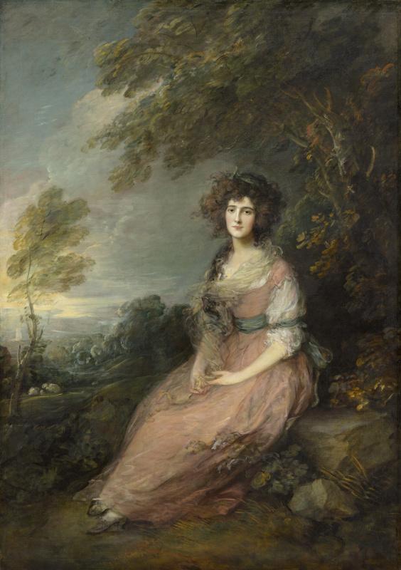 Thomas Gainsborough. Portrait of Mrs. Richard Brinsley Sheridan