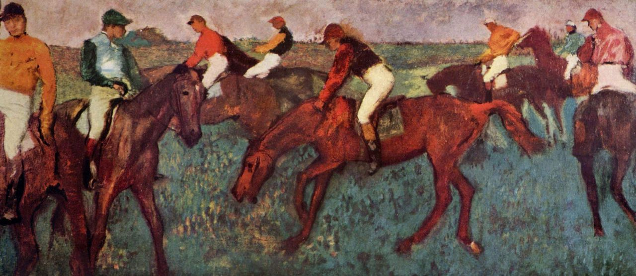 Edgar Degas. Before the start