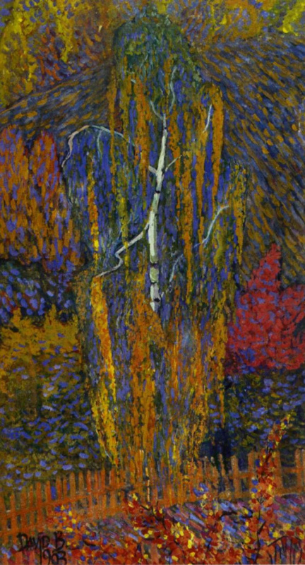 David Davidovich Burliuk. Birch in autumn