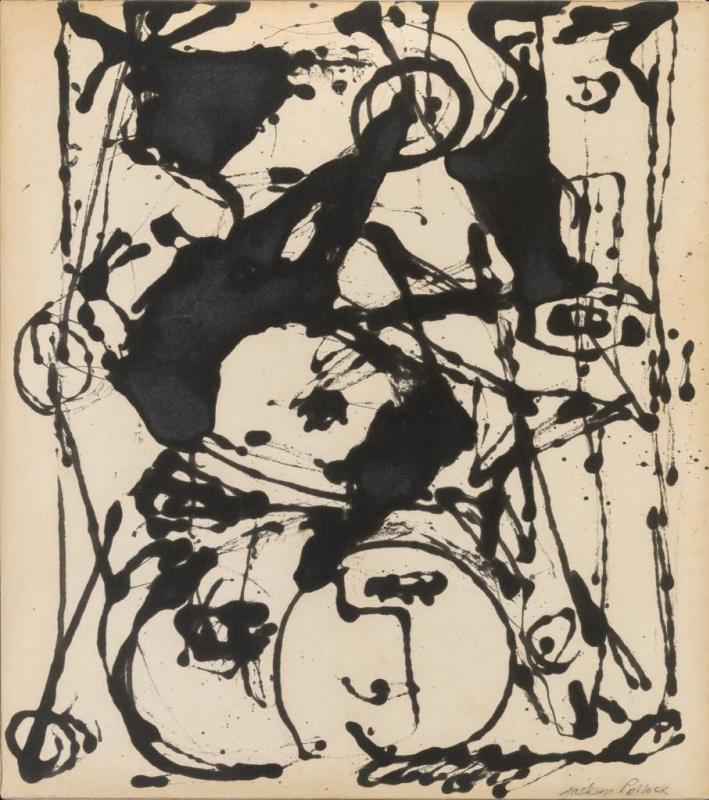 Джексон Поллок. Чёрно-белая картина II
