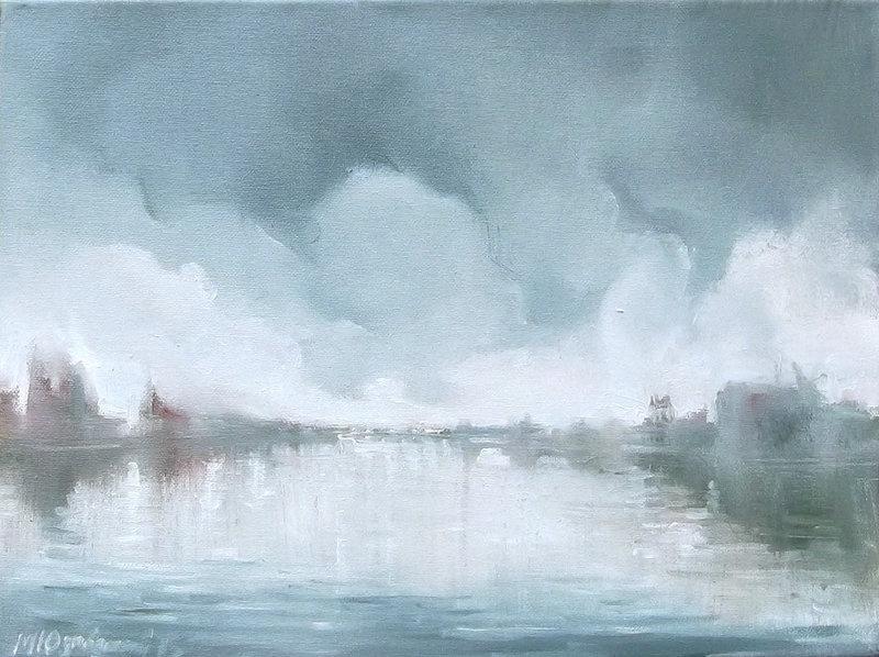 Michael Yudovsky. Morning over the river