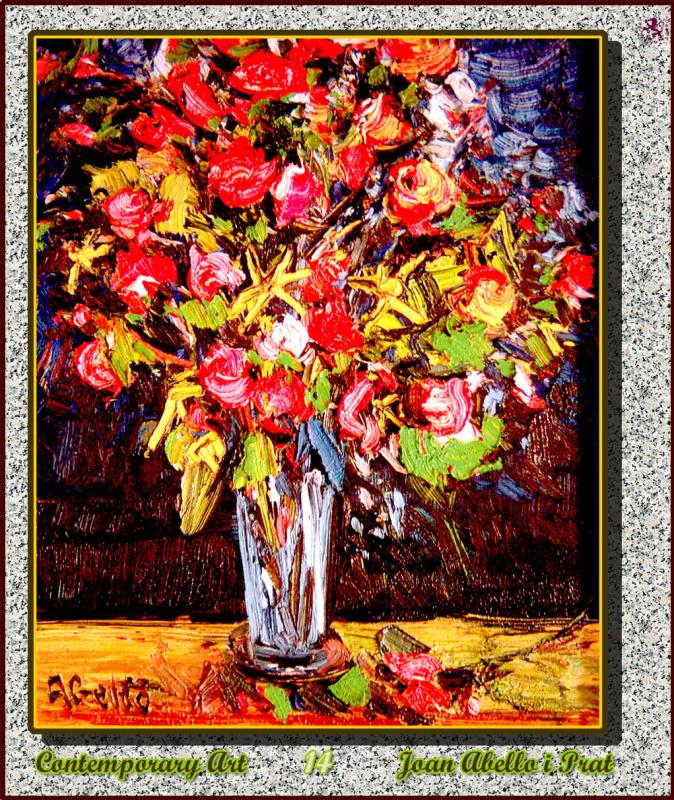 Джоан Абелло Прат. Яркие цветы в вазе