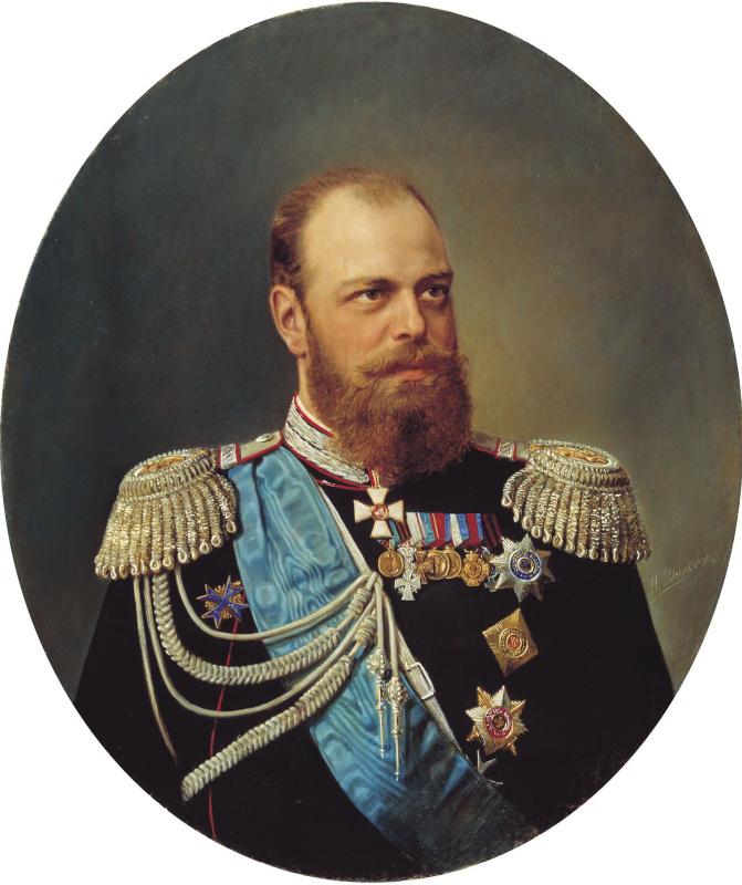 Николай Густавович Шильдер. Портрет Александра III