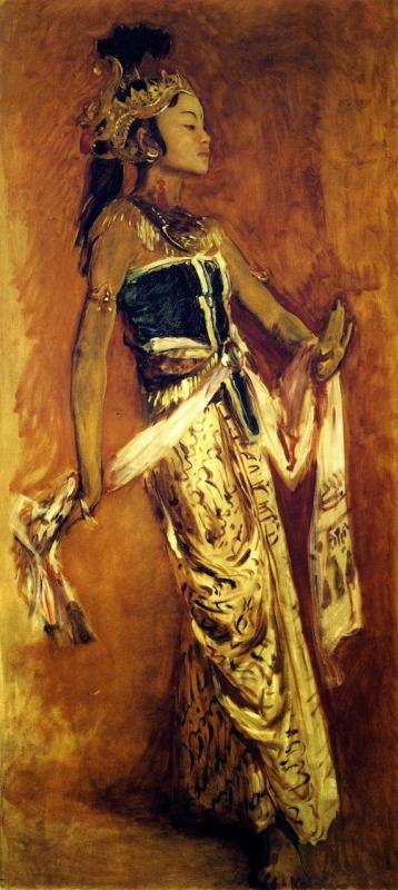 Джон Сингер Сарджент. Яванская танцовщица (профиль)