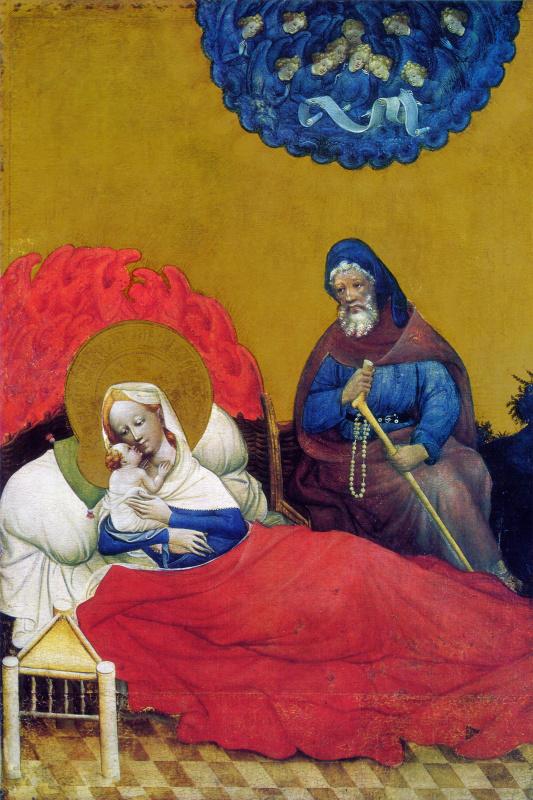 Конрад фон Зост. Алтарь Святой Марии. Фрагмент: Рождество Иисуса