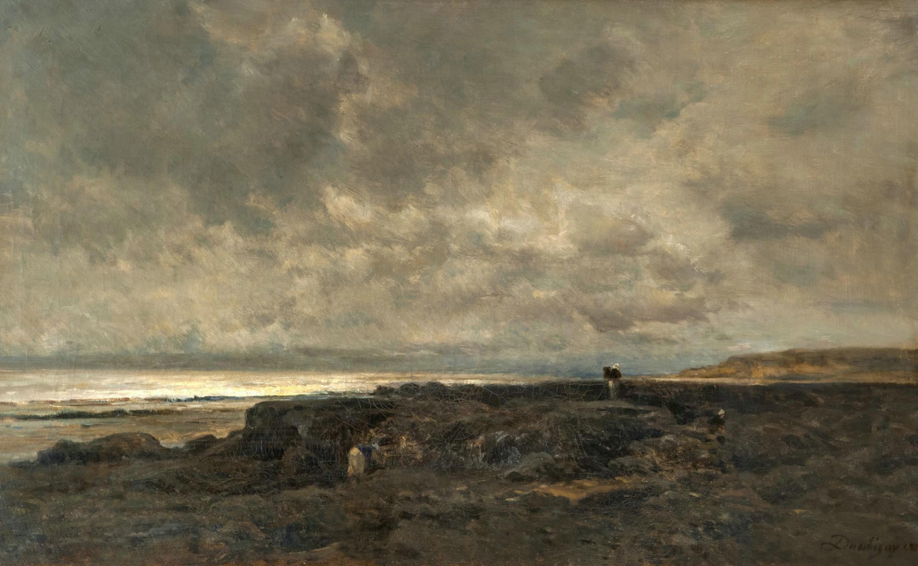 Charles-Francois Daubigny. The tide in Normandy.