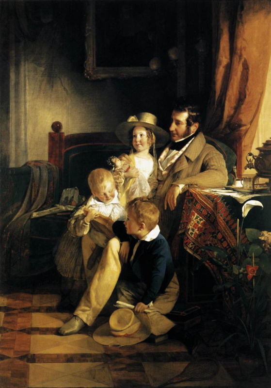 Friedrich von Amerling. Rudolph von Arthaber with children