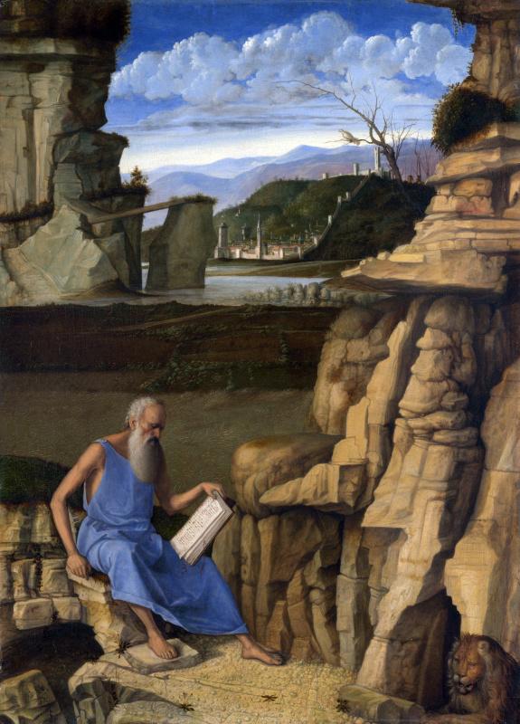 Святой Иероним читает