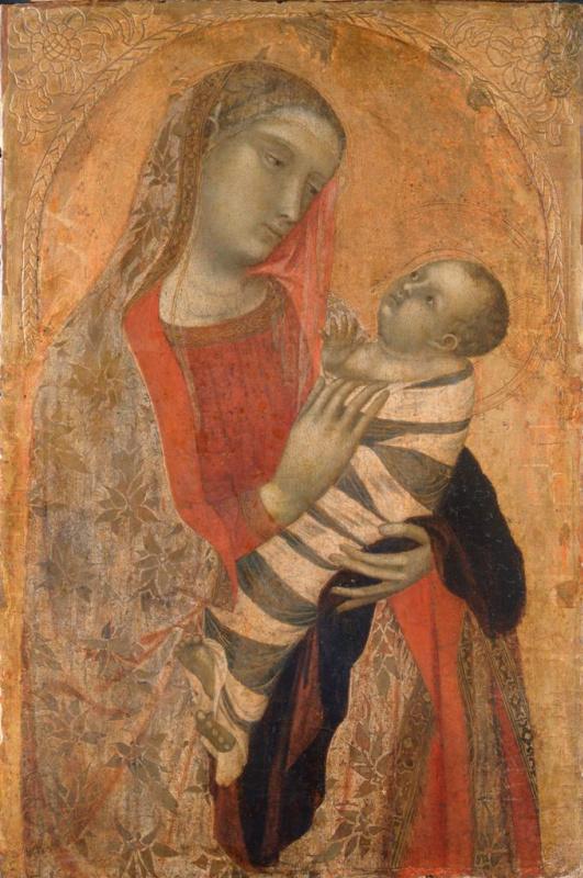 Амброджо Лоренцетти. Мадонна с Младенцем