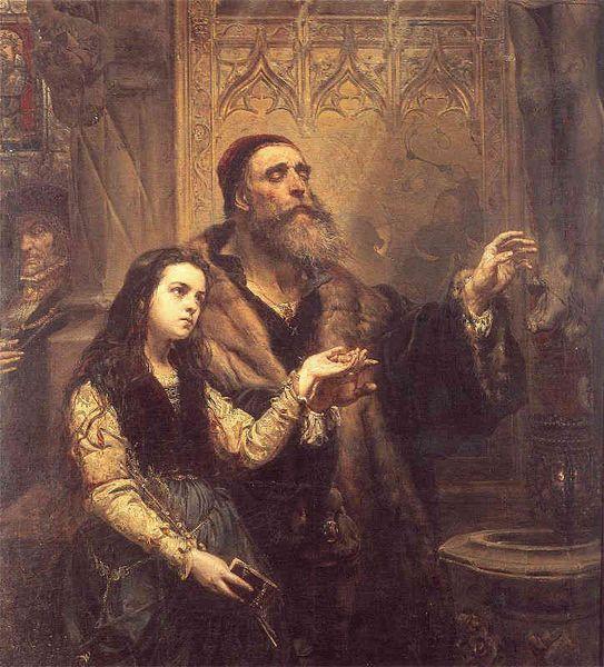 Ян Матейко. Фейт Штосс и его дочь