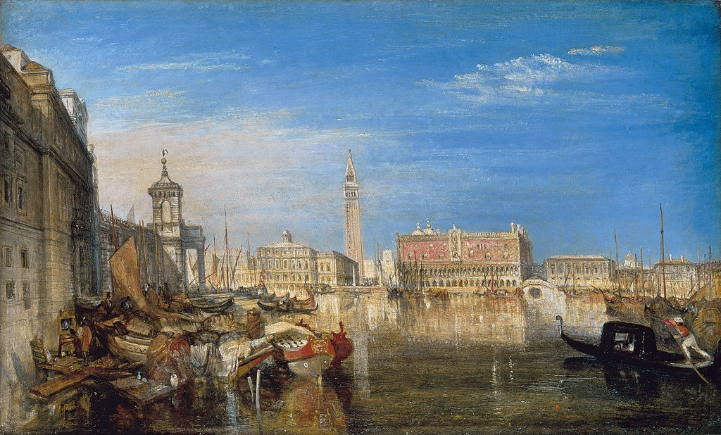 Joseph Mallord William Turner. The bridge of sighs, Ducal Palace and custom house Venice
