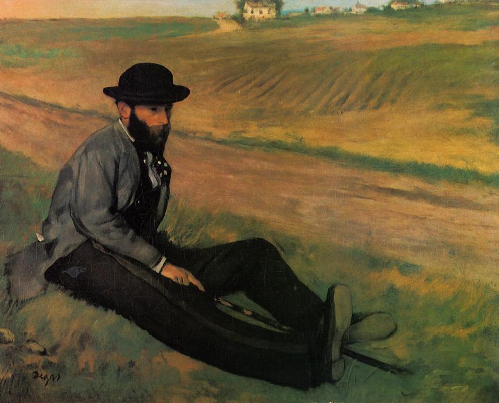 Edgar Degas. Eugene Manet