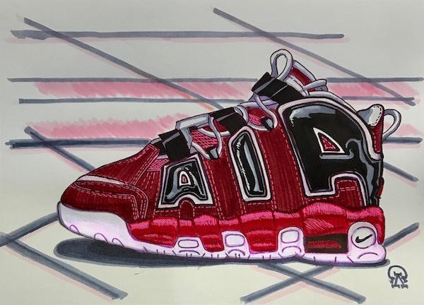 Larissa Lukaneva. Air Sneakers Sketch.