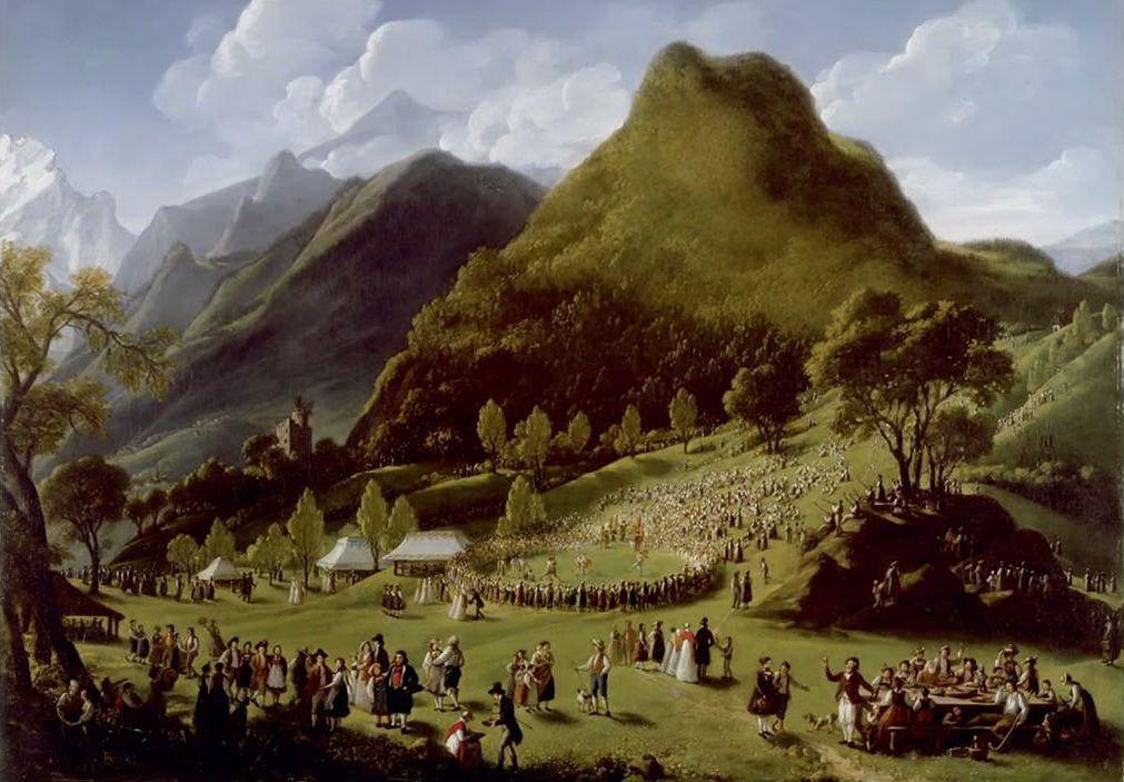 Элизабет Виже-Лебрен. Праздник пастухов в Уншпуннене 17 августа 1808 года