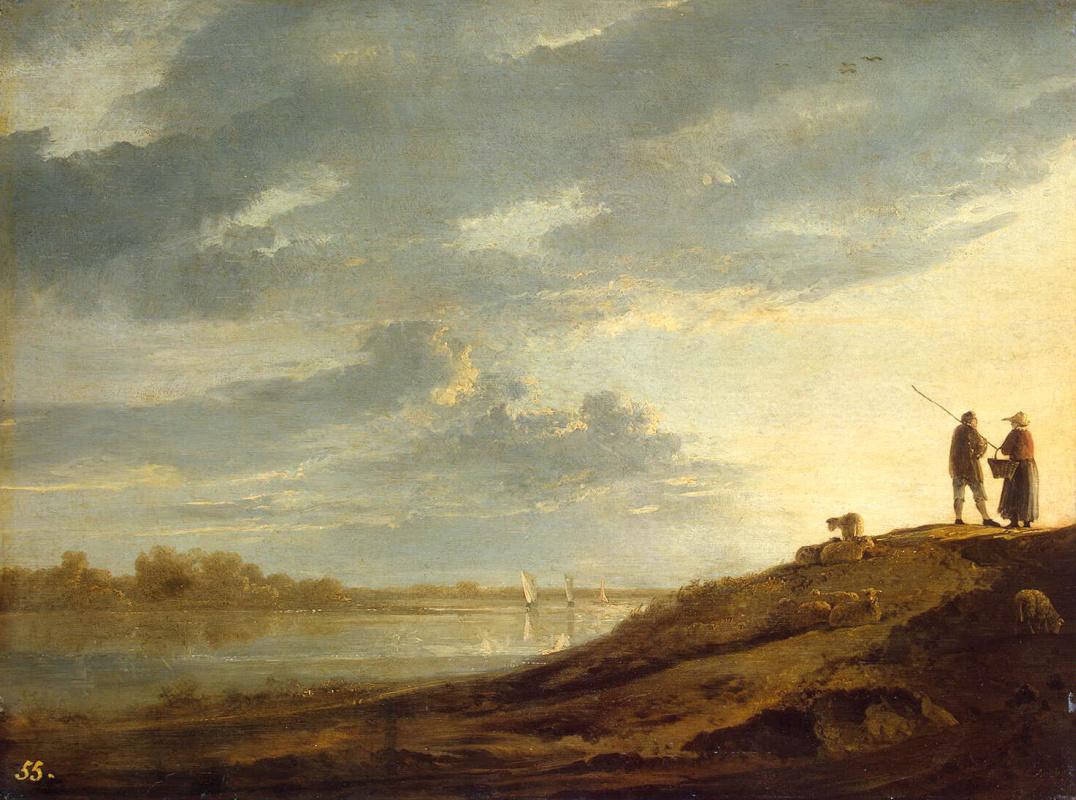 Альберт Кейп. Закат на реке