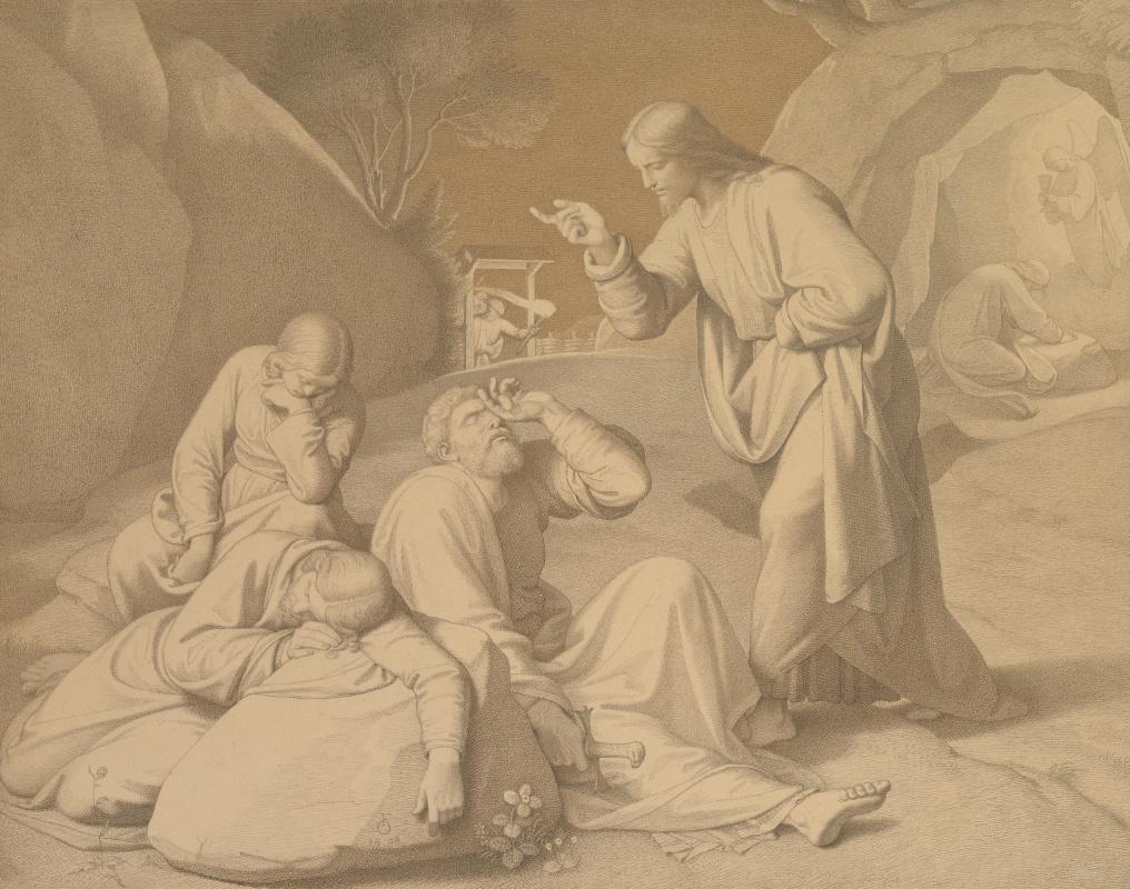 Иоганн Фридрих Овербек. Христос в Гефсиманском саду