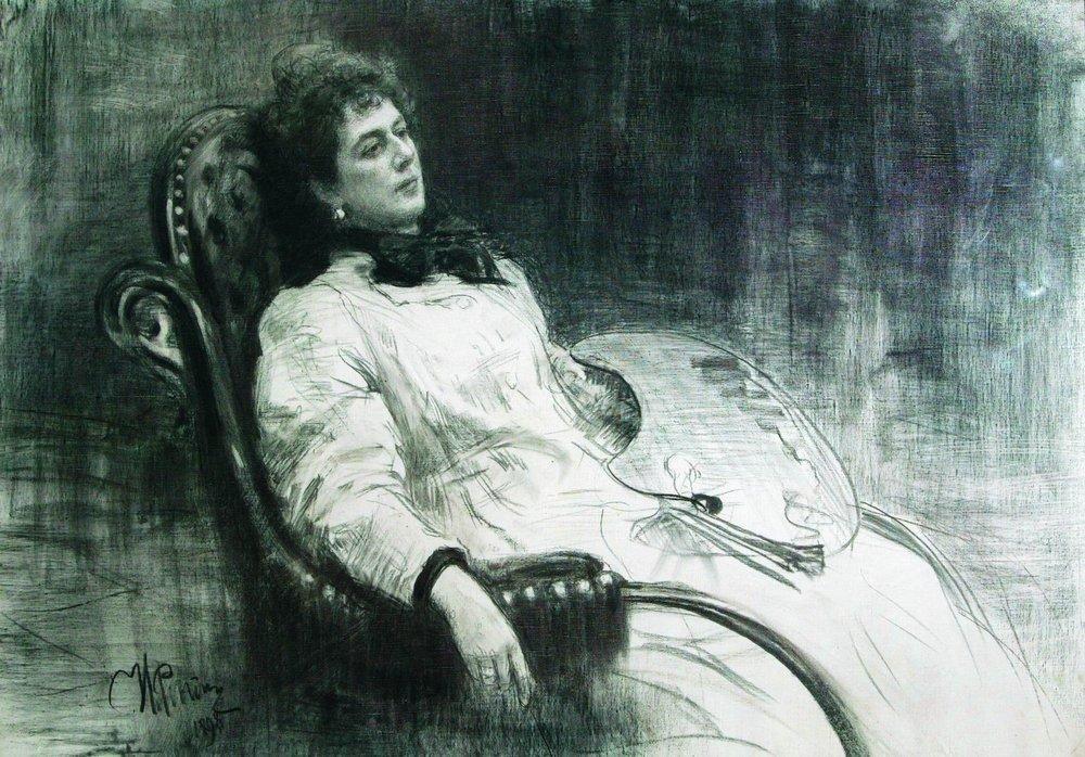 Ilya Efimovich Repin. Portrait Of M. K. Tenisheva. Etude
