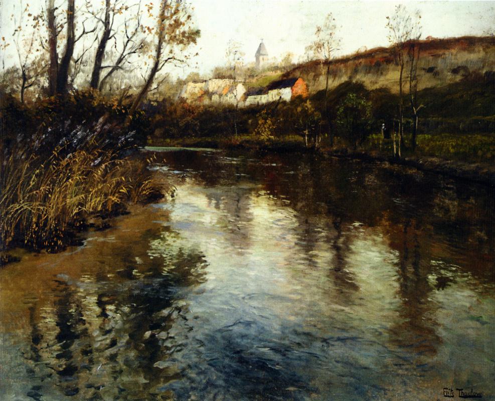 Фриц Таулов. Речной пейзаж.