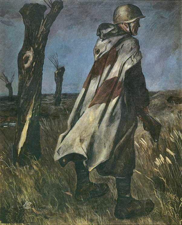 Александр Александрович Дейнека. Солдат в плащ-палатке