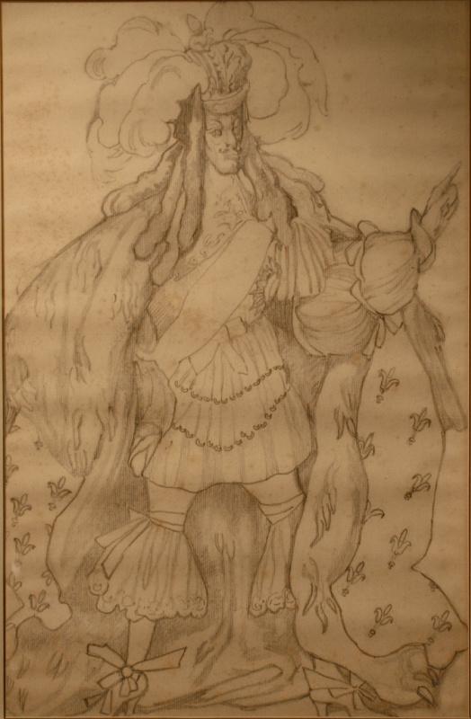 Эскиз костюма Короля к балету П.И. Чайковского «Спящая красавица»